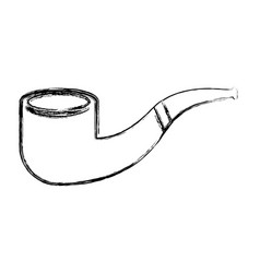 sketch draw smoke pipe vector image