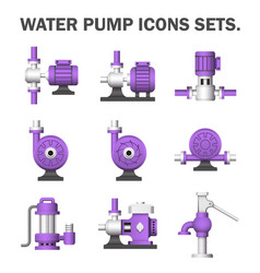 water pump station vector image vector image