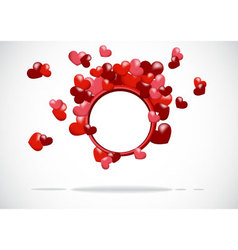 abstract background with a red heart vector image