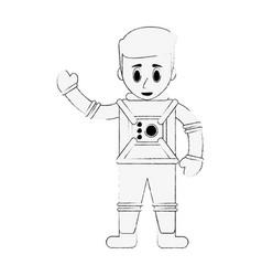 astronaut cartoon isolated vector image vector image