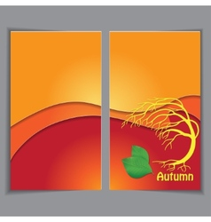 Autumn yellow background template vector image vector image