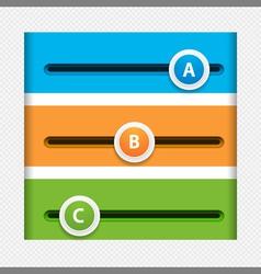 infographic sliders vector image