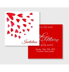 invitation cards with watercolor elements vector image