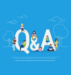 question and answer concept of young vector image vector image