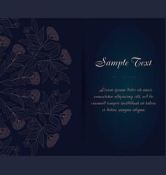 vintage business card ornamental flower vector image vector image