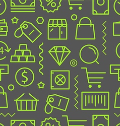 Different shopping seamless pattern vector image vector image