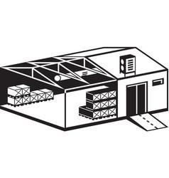 industrial warehouse building vector image vector image