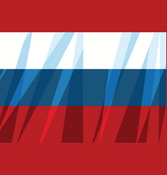 russian flag state symbol vector image vector image