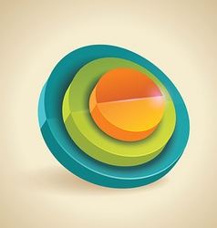 3d cylinders color symbol vector