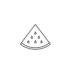 a piece of watermelon icon vector image
