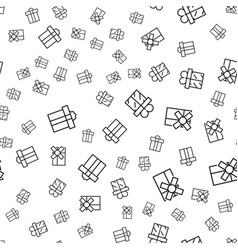 abstract seamless pattern with outline gift vector image