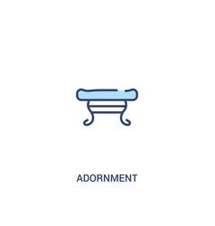 Adornment concept 2 colored icon simple line vector