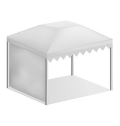 Advertising tent mockup realistic style vector