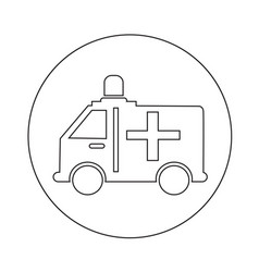 ambulance car icon design vector image