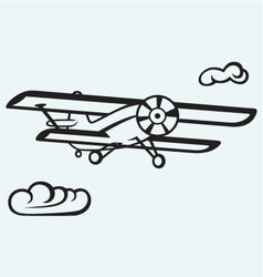 an airplane in sky vector image