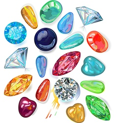 Array of precious stones vector image