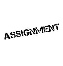 Assignment rubber stamp vector