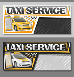 Banners for taxi service vector
