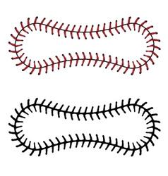 baseball lace background vector image