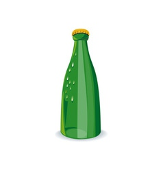 Beer Bottle Green Retro vector