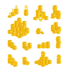 bitcoin stacks count vector image