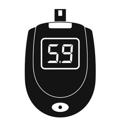 Blood glucose level icon simple style vector