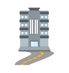 Building living place road vector