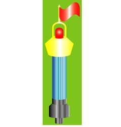 Buoy shone with a flag vector image