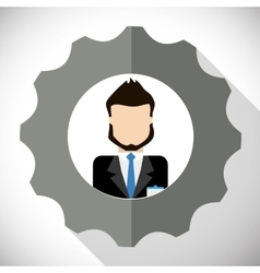 Businesspeople inside gear icon Business design vector