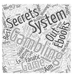 Bwg best gambling ebooks word cloud concept vector