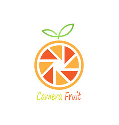camera fruit logo vector image
