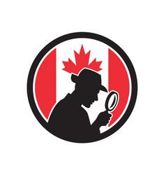 Canadian private investigator canada flag icon vector