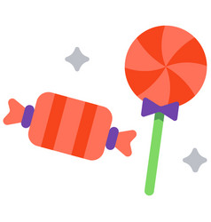 candy flat vector image