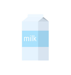 carton of milk in flat style vector image
