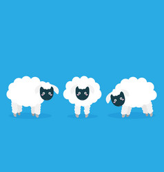 cartoon flat sheep set image vector image
