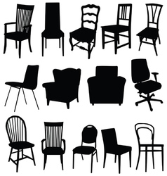 chair art in black color vector image