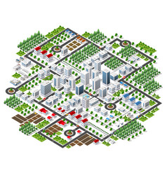 City megapolis structure vector