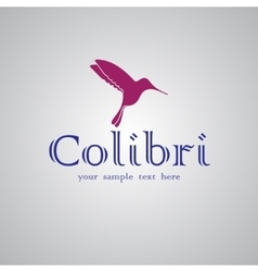 Colibri text background vector
