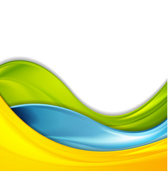Colorful abstract smooth waves corporate vector