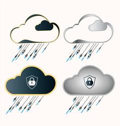Computer cloud set vector