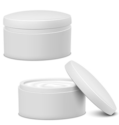 Cream Jar vector image