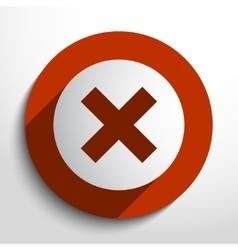 cross web icon vector image