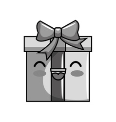 cute gift character icon vector image