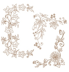 decorative Autumn branches vector image