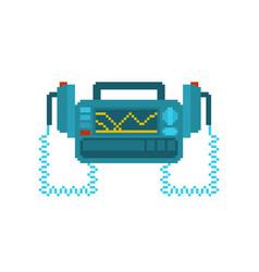 defibrillator pixel art medical device pixelated vector image