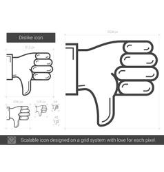 Dislike line icon vector image