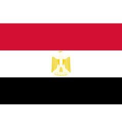 Egyptian flag vector image vector image