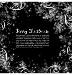 Elegant christmas black and white background vector image