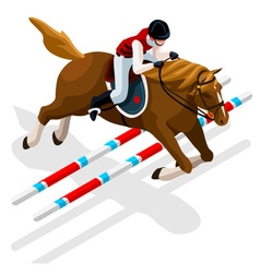 Equestrian Eventing 2016 Sports 3D vector