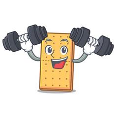 Fitness graham cookies character cartoon vector